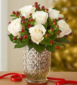 Totally adorable white christmas floral centerpieces ideas 07