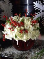 Totally adorable white christmas floral centerpieces ideas 10