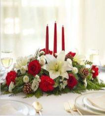 Totally adorable white christmas floral centerpieces ideas 42