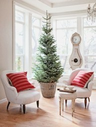 Totally inspiring small christmas tree decoration ideas for space saving 26