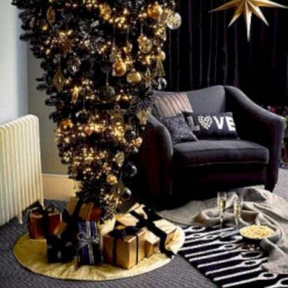 Unusual black christmas tree decoration ideas 12