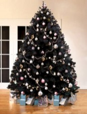 Unusual black christmas tree decoration ideas 24