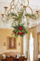 Adorable christmas chandelier decoration ideas 04