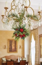 Adorable christmas chandelier decoration ideas 04