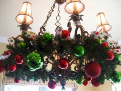 Adorable christmas chandelier decoration ideas 13