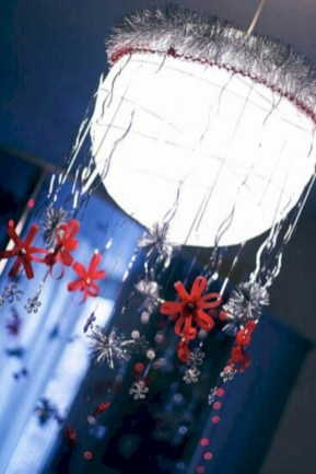 Adorable christmas chandelier decoration ideas 29