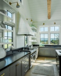 Adorable grey and white kitchens design ideas 05