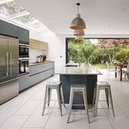 Adorable grey and white kitchens design ideas 07
