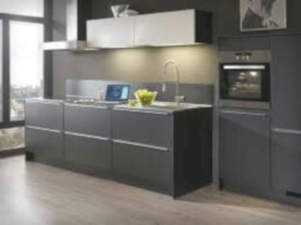 Adorable grey and white kitchens design ideas 08