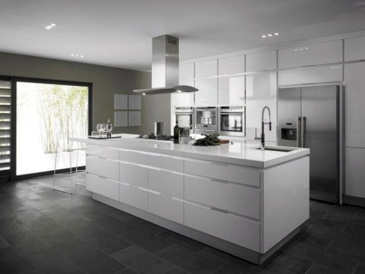 Adorable grey and white kitchens design ideas 10