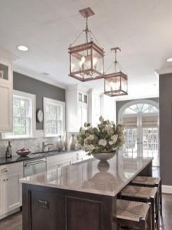 Adorable grey and white kitchens design ideas 11