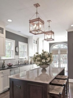 Adorable grey and white kitchens design ideas 11