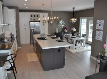 Adorable grey and white kitchens design ideas 12
