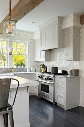 Adorable grey and white kitchens design ideas 17