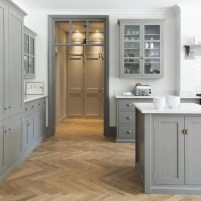 Adorable grey and white kitchens design ideas 22