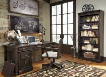 Awesome rustic home office designs ideas 06