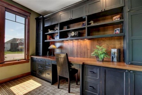 Awesome rustic home office designs ideas 08