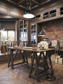 Awesome rustic home office designs ideas 18