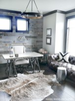 Awesome rustic home office designs ideas 21