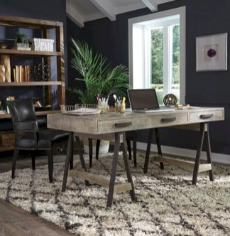 Awesome rustic home office designs ideas 23