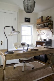 Awesome rustic home office designs ideas 32