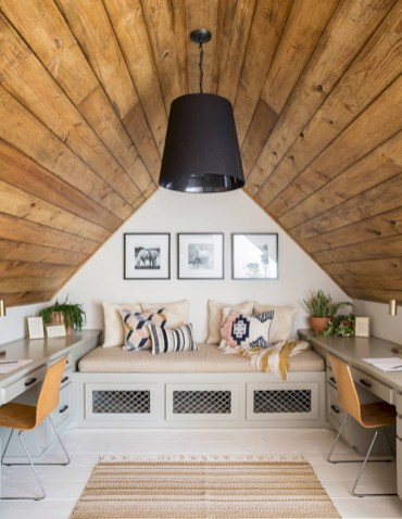 Awesome rustic home office designs ideas 34