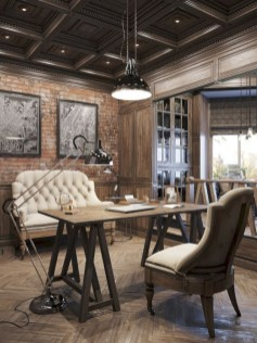 Awesome rustic home office designs ideas 35