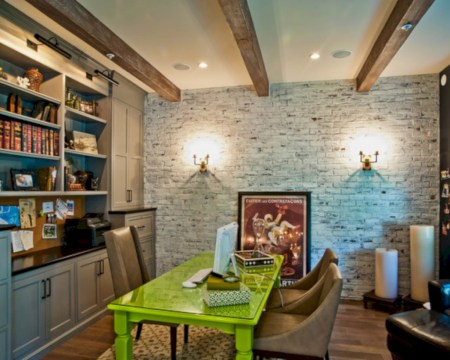 Awesome rustic home office designs ideas 36