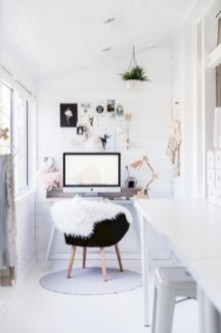 Awesome rustic home office designs ideas 48