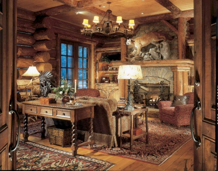 Awesome rustic home office designs ideas 49