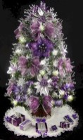 Beautiful and charming tabletop christmas trees decoration ideas 26