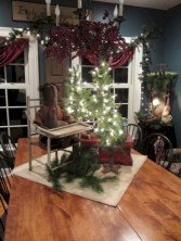 Beautiful and charming tabletop christmas trees decoration ideas 33