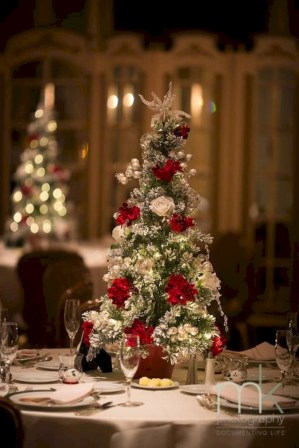 Beautiful and charming tabletop christmas trees decoration ideas 35
