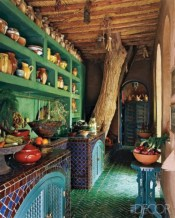 Bright and colorful kitchen design ideas 28