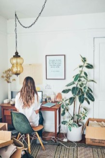 Charming vintage home office decoration ideas 05