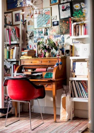 Charming vintage home office decoration ideas 11