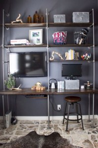 Charming vintage home office decoration ideas 19