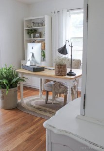 Charming vintage home office decoration ideas 24