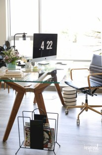 Charming vintage home office decoration ideas 26