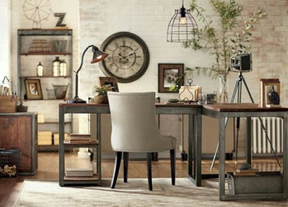 Charming vintage home office decoration ideas 29
