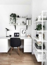 Charming vintage home office decoration ideas 33