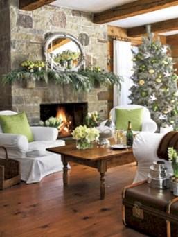 Cool christmas fireplace mantel decoration ideas 01