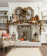 Cool christmas fireplace mantel decoration ideas 11