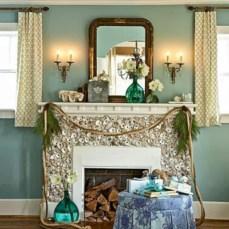 Cool christmas fireplace mantel decoration ideas 19