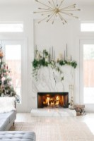 Cool christmas fireplace mantel decoration ideas 22