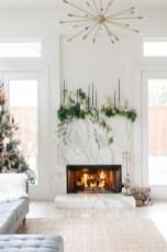 Cool christmas fireplace mantel decoration ideas 22