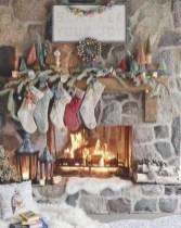 Cool christmas fireplace mantel decoration ideas 35