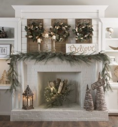 Cool christmas fireplace mantel decoration ideas 39