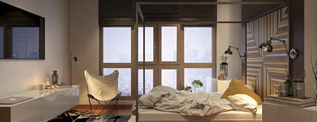 Cozy bedrooms design ideas with brilliant accent walls 13