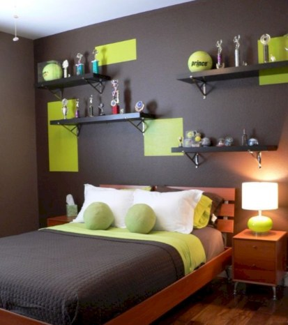 Cozy bedrooms design ideas with brilliant accent walls 40